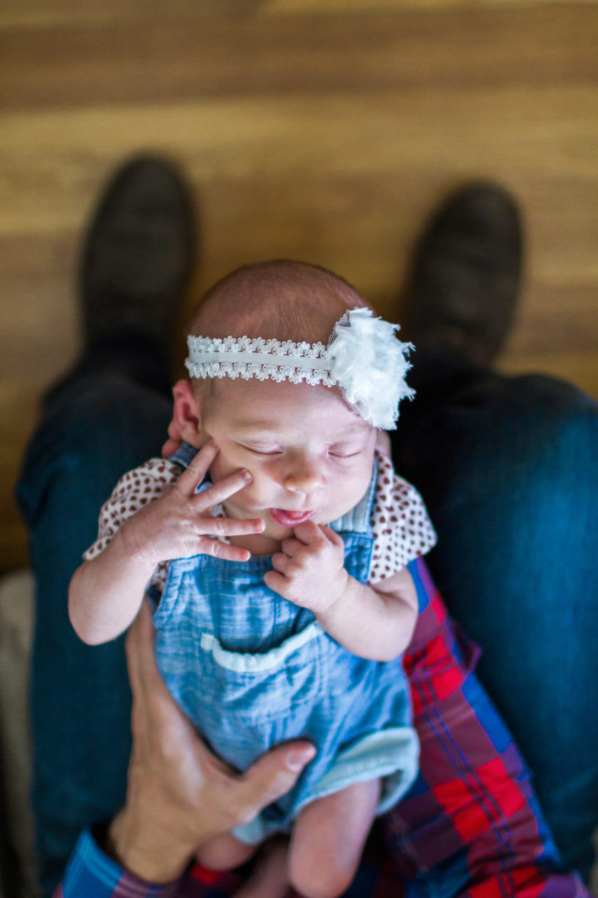 Lifestyle newborn session in MN