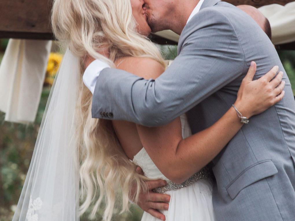 JOhn P furber Farm Ceremony Kiss