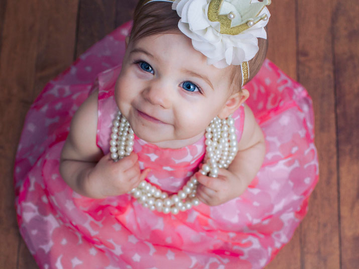 Scarlet is One! It's princess time!